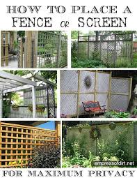 20 Ideas For Better Backyard Privacy Empress Of Dirt Garden Privacy Backyard Fences Privacy Landscaping