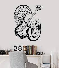 Wall Vinyl Decal Music Guitar Musical Instrument Notes Stickers Mural Wallstickers4you