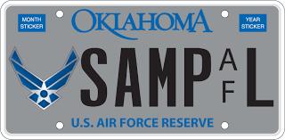Oklahoma Tax Commission Military Plates