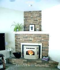 stacked stone fireplace diy dry stack