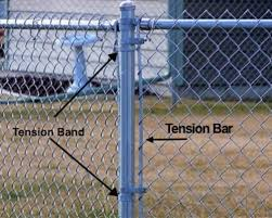 Black Chain Link Fence Tension Bands Steel Bands Chain Link Fence Parts