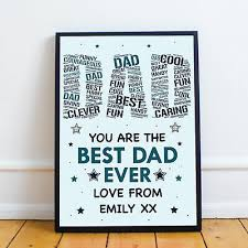 daughter personalised birthday daddy a4