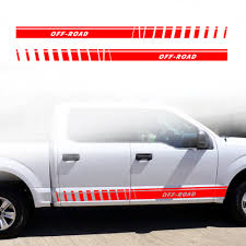 Gloss Auto Side Car Sticker Pick Up Truck Car Side Stripes Side Skirts Graphics Decals Stickers For Toyota Hilux Tacoma Tundra Car Stickers Aliexpress