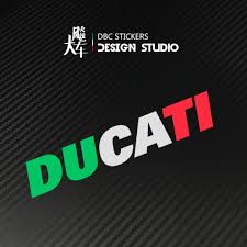 Ducati Italian Green White Red Tricolour Colours Motorbike Car Decal Sticker Helmet Motorcycles Motorcycle Accessories On Carousell
