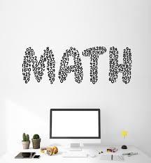 Vinyl Wall Decal Mathematics Math Symbols Numbers Teen Room Stickers M Wallstickers4you