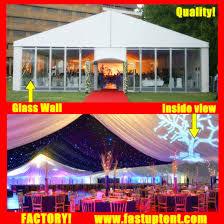 aluminium frame glass wall marquee tent