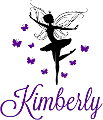 Amazon Com Personalized Name Ballet Ballerina Fairy Butterflies Dance Vinyl Decal Sticker Small 27 X 22 Posters Prints