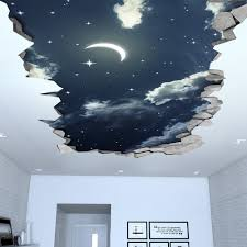 Night Sky 3d Effect Ceiling Decal Moonwallstickers Com