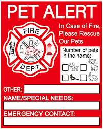 Amazon Com Pet Alert Safety Fire Rescue Sticker Pet Emergency Window Decals Save Our Pets Emergency Pet Inside Decal Firefighters Will See Alert On The Window Door Or House And Rescue