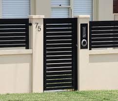 Exterior Boundary Wall Designs Google Search Metal Garden Gates Fence Gate Design Brick Wall Gardens