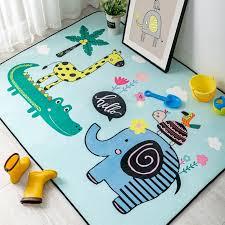 Waliicorners Cute Cartoon Animals Carpet Kids Room Play Tent Area Rugs Children Bedroom Decor Carpets Living Room Non Slip Floor Mat Waliicorner S Store