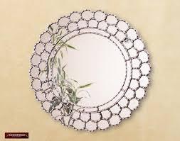 peruvian silver round mirror 23 6in