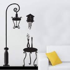 Shop Street Lamp Post Clock Table City Wall Art Mural Decor Wall Sticker Wall Vinyl Overstock 17998804