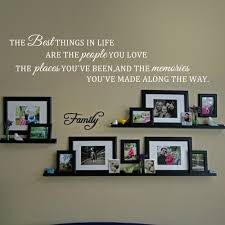 inspirational wall quote the best things in life love place