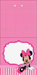 Minnie Cuadros Rosa Invitaciones Y Etiquetas Para Candy Bar Para