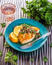 Swordfish with Lemon and Caper Sauce ...