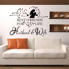 Romantic Husband Wife Heart Wall Stickers Best Friends For Life Husband Wife Wall Decal Home Decor Art Wall Sticker Wall Stickers Aliexpress