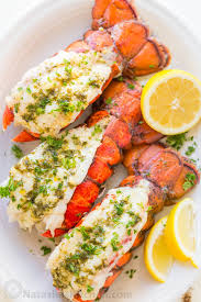 Broiled lobster tails ...