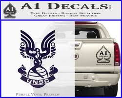 Halo Series United Nations Space Command Logo D1 Decal Sticker A1 Decals