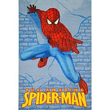 Shop Kids Blue Spider Man Area Rug 5 X 3 Overstock 4433813