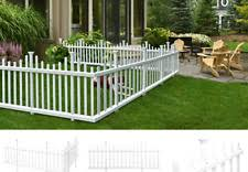 Zippity Outdoor Products Zp19001 Picket Fence 1 X Pack Of 2 White For Sale Online Ebay