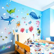 Wall Stickers For Kids Rooms Marine Animal Ocean Wall Decor Kids Room Decoration Adesivo De Parede Infantil 50 70cm 510 Sticker For Kids Room Wall Stickers For Kidswall Sticker Aliexpress