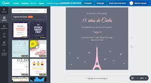 Crea Invitaciones Para Xv Anos De Paris Gratis Canva