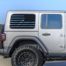 Jeep Wrangler Jl Rear Window Usa Flag Alphavinyl