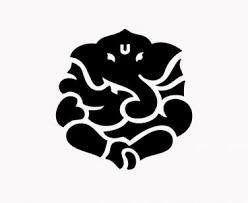 Ganesh Yoga Hindu 6 Black Vinyl Decal Sticker Laptop Wall Car Window Ipad Etc