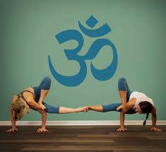 Om Symbol Wall Decal Om Symbol Yoga Wall Decal