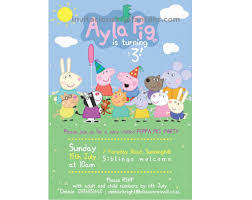 Invitacion Peppa Pig Peppa Pig Pig Birthday Pig Party