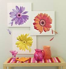 Wallies Large Gerber Daisy Flowers Wall Art Decor Mural Free Sh For Sale Online Ebay
