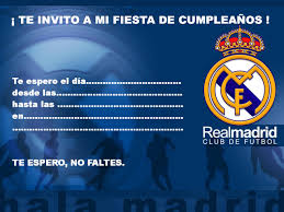 Invitaciones Del Real Madrid Imagui