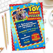 Invitacion De Cumpleanos Toy Story Ninos Y Ninas 2 000 En
