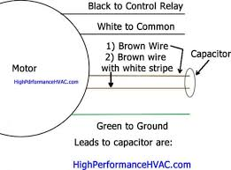 wire a run capacitor to a motor er