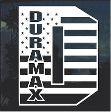 Duramax D Flag Window Decal Sticker Custom Sticker Shop