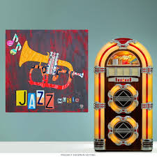 Jazz Trumpet License Plate Style Wall Decal At Retro Planet