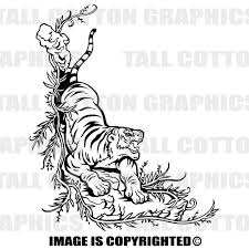 Bengal Tiger Vinyl Decal Wl114 Vinyl Decals Vinyl Bengal Tiger