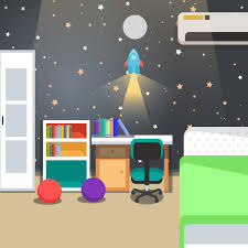 Kids Room Decoration Space Theme Vector Illustration Download Free Vectors Clipart Graphics Vector Art