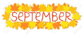 September Season Calendar Month Creative Concept. Yellow And ...