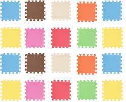 Amazon Com Gosear Puzzle Mats For Kids Puzzle Mats For Floor 20pcs 30 X 30cm Assorted Colors Eva Foam Exercise Play Puzzle Mats For Kids Toddler Children Room Floor Supplies Home Kitchen