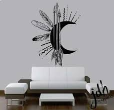 Tribal Moon Vinyl Wall Decal Sticker Native American Heritage Pride Decorations Ebay