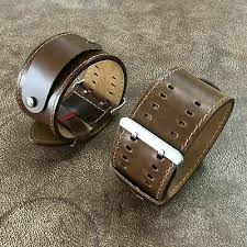 22mm vintage oil brown leather cuff