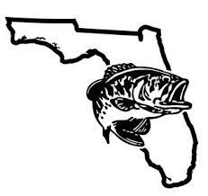 Florida Bass Fishing Decal Sticker