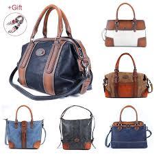 vintage women genuine leather handbags