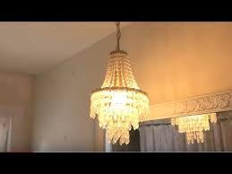 how to remove chandelier light fixture