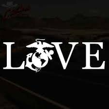 Love Marines Decal Ega Usmc Grunt Corps Window Sticker Pick Size Color