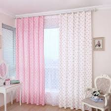 Kids Room Polka Dots Light Filtering Soundproof Grommet Curtain Drops 80 By 63 Inches Pink