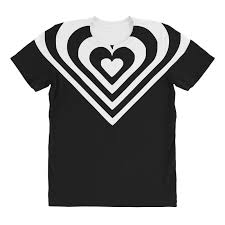 Custom Heart Sticker Vinyl Decal All Over Women S T Shirt By Mdk Art Artistshot