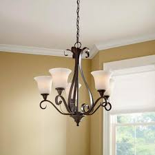 hampton bay 5 light oil rubbed bronze